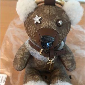 Limited Edition Coach Signature Bear Keychain